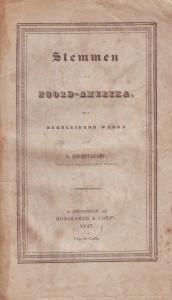 Het boekje met het voorwoord van Brummelkamp waarin emigratie naar Amerika gepropageerd wordt (hierin is een uitvoerige brief van ds. A.C. van Raalte opgenomen, die zijn Amerika-reis beschrijft).