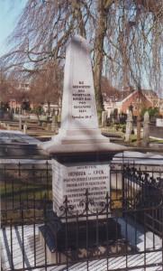 Het grafmonument van ds. Hendrik de Cock en Frouwe Venema op de Zuiderbegraafplaats te Groningen