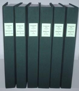 Het werkmateriaal voor het boek over de Friese evangelsatiearbeid
