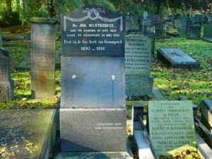 De grafsteen op het graf van ds. Westerhuis