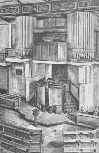 Het interieur van de Grachtkerk na de verbouwing van 1930.
