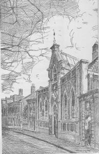 Zo zag de Zuidsingelkerk er tot de verbouwing in 1914 uit.