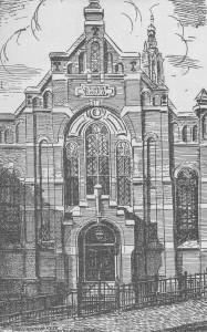 Zo zag de kerk aan de Langegracht er van 1898 tot 1930 uit.