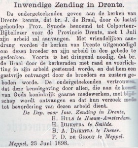 UIt: 'Het Kerkblad' van 1 juli 1898.