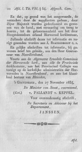 September - Dominees 2a - 27 nov 1834