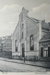 De vroegere gereformeerde kerk aan de Oude Molenstraat te Assen.