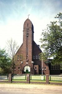 De gereformeerde kerk te Onderdendam.