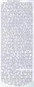 Het eerste deel van ds. Draijers apologie in het weekblad De WEkker van 1 september 1893.