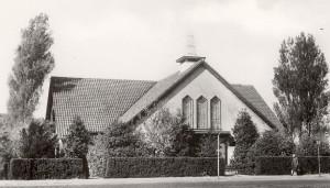 De Noorderkerk, de 'noodkerk' die in 1940 in gebruik genomen werd.