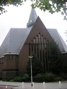 De Ontmoetingskerk, die in 1928 als gereformeerde kerk  in gebruik genomen werd