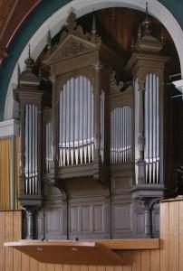 Het orgel van de gereformeerde kerk te Heeg.