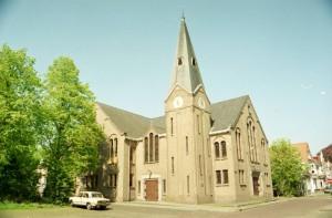 De voormalige gereformeerde kerk aan de Onnastraat te Steenwijk.