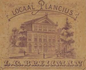 Gebouw 'Plancius' aan de Oude Zijds Voorburgwal te Amsterdam, waar het Coinges gehouden werd.