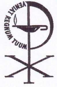 Het kerkzegel van de Gereformeerde Kerk Groningen-West.