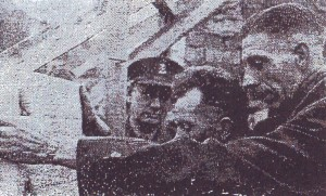 Ds. A. Broek (1921-1974) legde in november 1955 de eerste steen van de Goede Herderkerk.