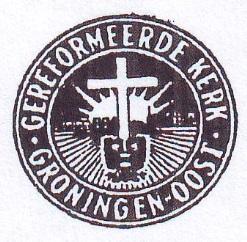 Het kerkzegel van de Gereformeerde Kerk Groningen-Oost.