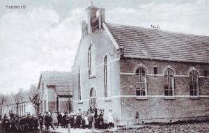 De gereformeerde kerk uit 1913 te Kommerzijl