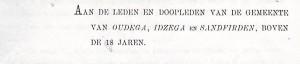 Oudega Brief De vries 1