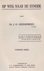 Een van de geschriften van dr. J.G. Geelkerken.