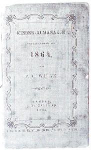 Het 'Kinderalmanakje' uit 1864.