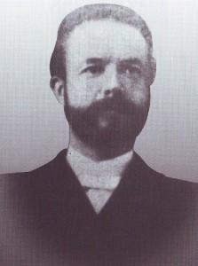 Ds. F. ten Hoor (1857-1908), die van 1892 tot zijn overlijden gereformeerd predikant te Uithuizermeeden was.