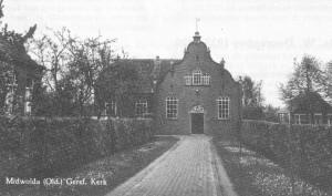 De kerk na de ingrijpende verbouwing in 1924.