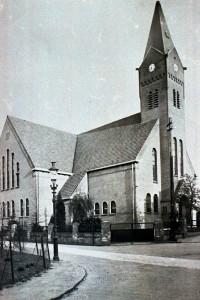 De nieuwe kerk die in 1925 in gebruik genomen werd en in 19844 door oorlogsgeweld verwoest werd.