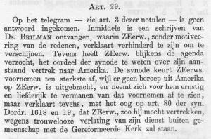 Wat de synode op 9 juni 1869 besloot...