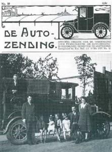 Advertentie van de 'Evangelisatie Vereeniging De Auto Zending' te Amsterdam.
