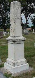 Ds. Bolks werd in Orange City 9Iowa), zijn laatste gemeente, begraven (1894).