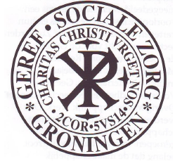 Logo van de Stichting voor Gereformeerde Sociale ZXorg, later 'ds. Th. Dellemanstichting'.