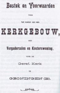 Bestek en voorwaarden voor de bouw van de tweede Zuiderkerk.