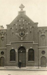 De kerk van de Christelijke Gerformeerde Gemeente aan de Begijnestraat ten tijde van de Doleantie.