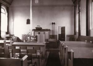 Het interieur van de gereformeerde kerk in het Heidenschap (foto: Botte Ouderkerken)..
