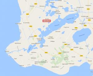 De Zuid-Westhoek van Friesland met It Heidenskip (kaart: Google).