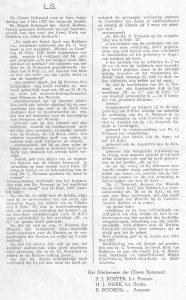 De classis van 4 mei 1927.