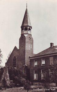 De in 1887 in gebruik genomen gereformeerde kerk te Tienhoven.