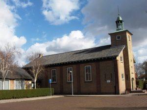 De nieuwe kerk die in 1956 in gebruik genomen werd.