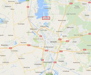 Tienhoven ten noorden van Utrecht (kaart: Google).