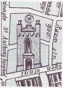Zo moet de kerk aan de Wagenstraat er uit gezien hebben ('Waar Hagenaars kerkten').
