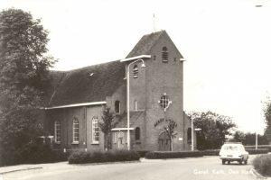 De gereformeerde kerk na de vergroting in 1939.