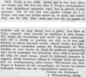 'Het Kerkblad', 9 oktober 1896.