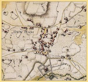 Op deze oude kaart staat de Mennegishave aangegeven.