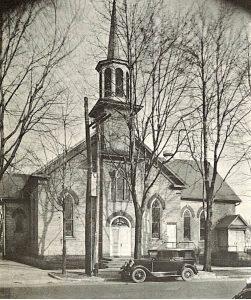 Nadat de eerste kerk van Zeeland te klein geworden werd de nieuwe 'First Christian Reformed Church'gebouwd