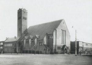 De voormalig gereformeerde Valkenboskerk.