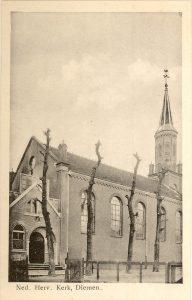 De hervormde kerk van Diemen (1865-1967).