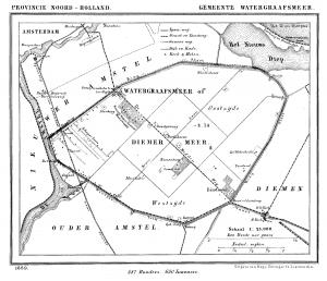 Een kaart van Watergraafsmeer in 1869