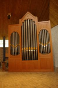 Het gerenoveerde orgel.