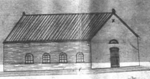 Het Altreformierte kerkje van 1866 in Campen (foto: Boek Campen).