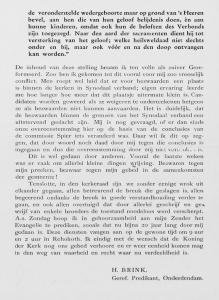 De brief van ds. Brink aan de gemeente van Onderdendam.